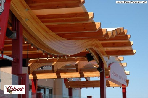 Curved Laminated Wood Beams ~ Steel bridge…think again architecture in transformation