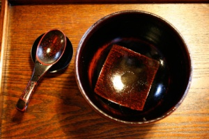 Japanese Lacquerware in a Soft Light Reveals Rich Tones